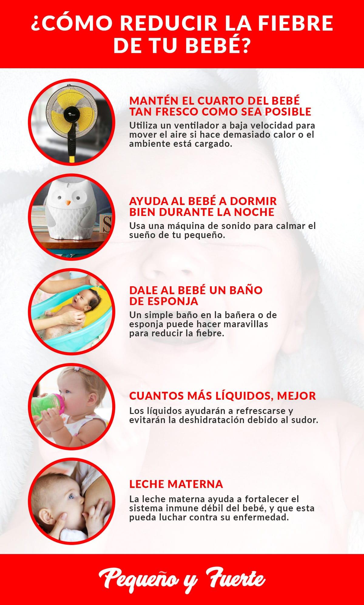 Cómo bajar la fiebre de tu bebé - pequeñoyfuerte.es
